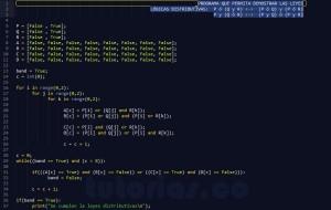 programacion en python: demostrar leyes logicas distributivas
