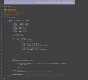 programacion en c#: demostrar leyes logicas distributivas