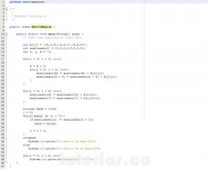 programacion en java: matriz magica