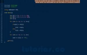 programacion en C++: los mayores entre vectores respectivamente
