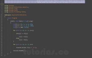 programacion en c#: los mayores entre vectores respectivamente