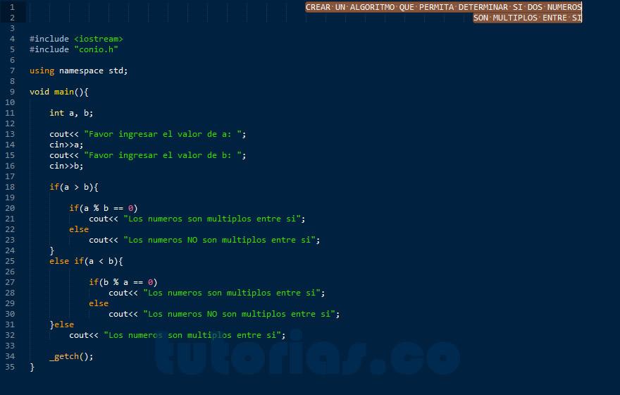 programacion en C++: numeros multiplos entre si