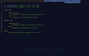 programacion en python: multiplos entre si