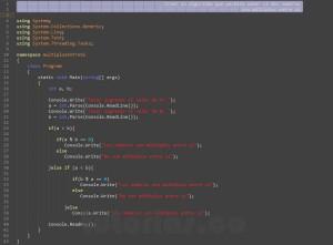 programacion en c#: multiplos entre si
