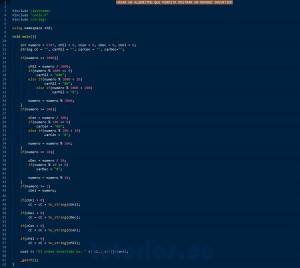programacion en C++: numero invertido