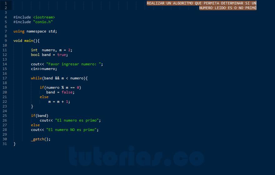 programacion en C++: numero primo