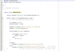 programacion en java: numero primo