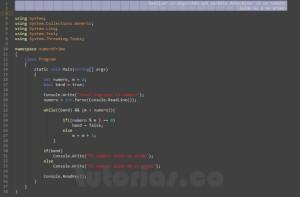 programacion en c#: numero primo