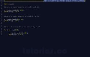 programacion en python: generar numeros aleatorios