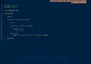 programacion en C++: numeros perfectos