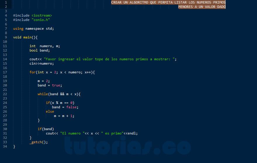 programacion en C++: numeros primos