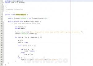 programacion en java: mostrar los numeros primos menores a un valor dado
