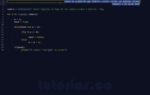 programacion en python: mostrar los numeros primos menores a un valor