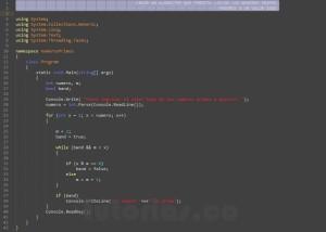 programacion en visual c#: numeros primos