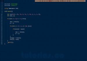 programacion en C++: ordenamiento seleccion