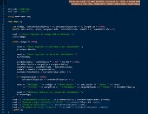 programacion en C++: calcular el pago de matricula