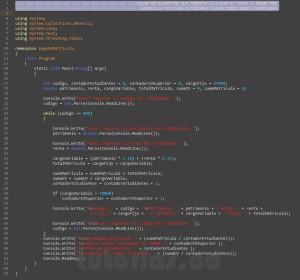 programacion en c#: calcular el pago de matricula