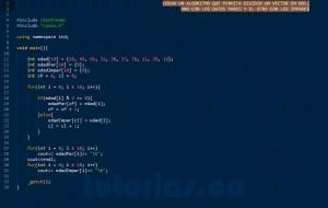 programacion en C++: particionar vector en dos