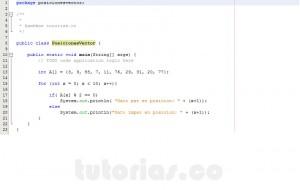 programacion en java: posicion vector