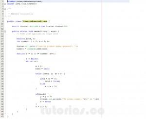 programacion en java: primeros numeros primos
