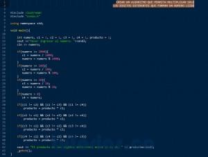 programacion en C++: producto de cifras diferentes