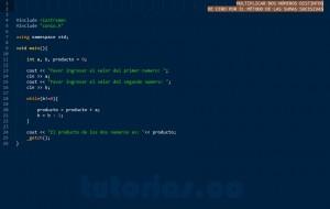 programacion en C++: producto entre dos numeros