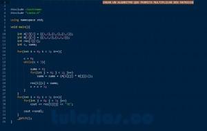 programacion en C++: producto entre dos matrices