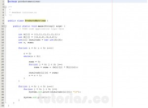 programacion en java: producto entre dos matrices