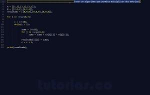 programacion en python: producto entre dos matrices