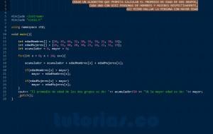 programacion en C++: promedio de edad en dos vectores