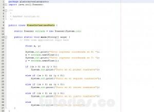 programacion en java: cuadrante de un punto sobre el plano