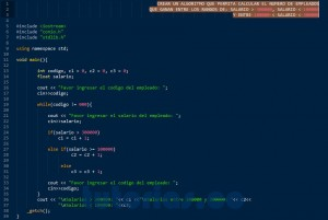 programacion en c++: contador rango de salarios