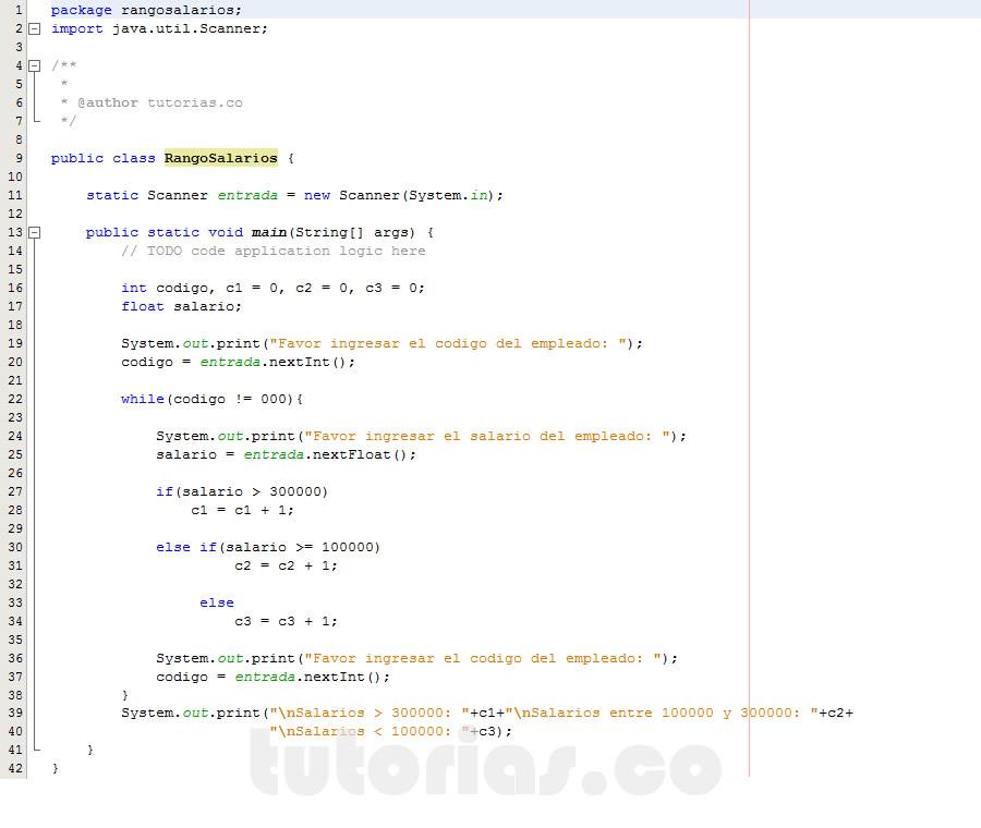 programacion en java: hallar cantidad de personas con rango de salario