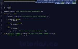 programacion en python: rango de salario