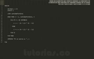 algoritmos: serie matematica PI