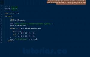 programacion en C++: serie matematica PI