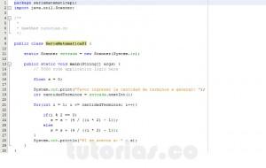 programacion en java: serie matematica PI