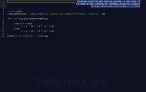 programacion en python: serie matematica PI