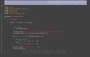 programacion en c#: serie matematica PI