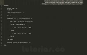 algoritmos: serie matematica SENO