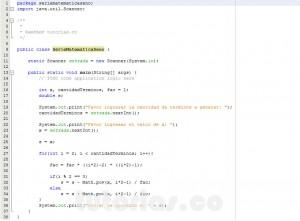 programacion en java: serie matematica SENO