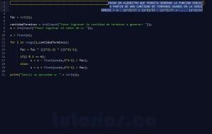 programacion en python: serie matematica SENO