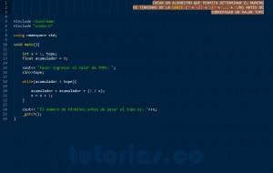programacion en C++: serie matematica