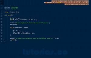 programacion en C++: serie matematica factorial