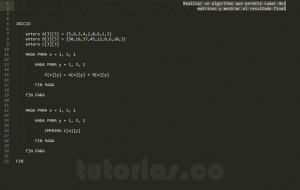 algoritmos: sumar matrices
