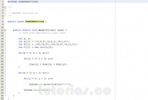 programacion en java: sumar matrices