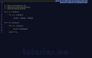 programacion en python: sumar matrices