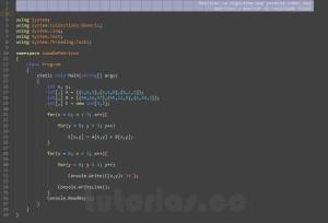 programacion en c#:sumar matrices