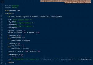 programacion en C++: el tiempo al proximo segundo