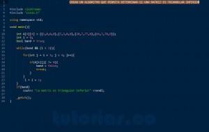 programacion en C++: triangular inferior de una matriz